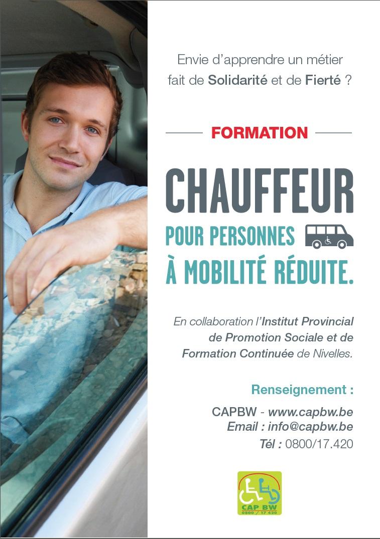 Affiche formation chauffeur